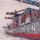 Thumb hafenszene containerschiff